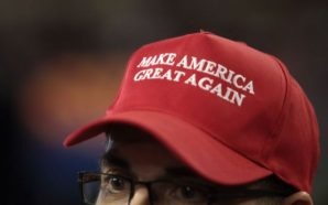 Watch: A Man in a Trump hat was kicked off…