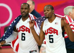 Carmelo Anthony plays some pickup ball with LeBron James, Kevin…