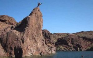 Video: Would You Jump From This 99-foot Cliff Swing?!