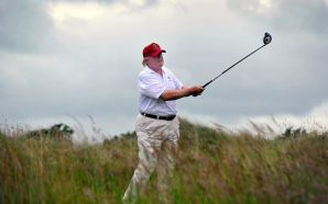 Trump talks tax cuts and budget on golf course with…