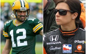 Aaron Rodgers' good-luck kiss backfired for Danica Patrick