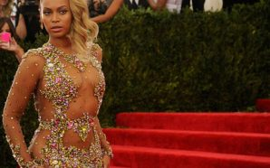 Beyonce dazzles in gleaming metal dress while attending at Wearable…