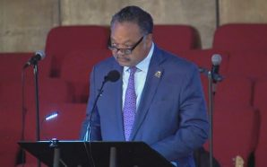 Rev. Jesse Jackson Preached At Aretha Franklin's Church This Morning…