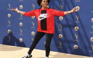 Jennifer Lewis Rocks All Nike on the Emmy's Red/Gold Carpet!