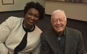 President Jimmy Carter campaigns with Stacey Abrams in his hometown