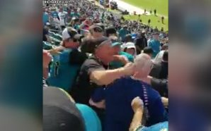 VIDEO: Houston Texans fan knocked out by Jacksonville Jaguars supporter!