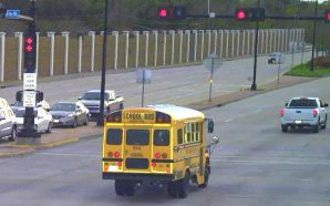 Caught on camera: School buses running red lights