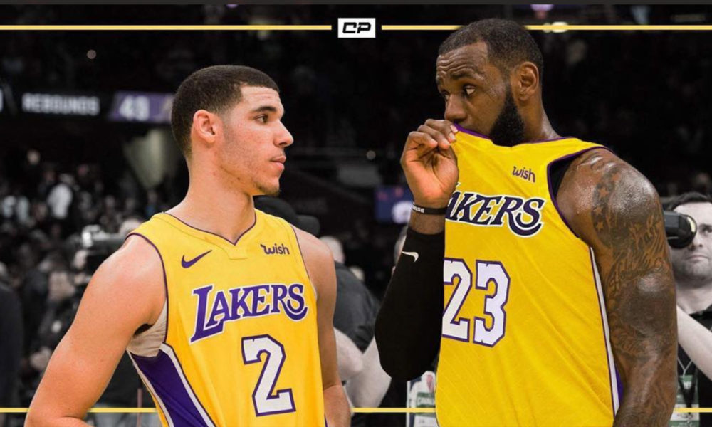 b46eb32dc LeBron and Lonzo take the floor together for first time – Joy105.com