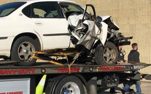 Teen flown to hospital following a car crash into a…