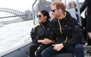 Prince Harry protects pregnant wife, Meghan Markle from a bear…