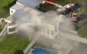 2 kids, 2 adults dead in arson fire at mansion!