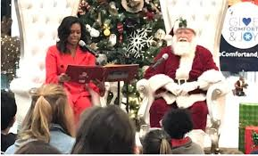 Watch: Michelle Obama performs Fortnite dance with Santa at children's…