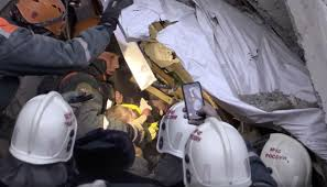 Child survives nearly 36 hours in frozen rubble finally rescued!