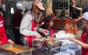 PHARRELL WILLIAMS HELPING THE NEEDY Good Deed on Good Friday