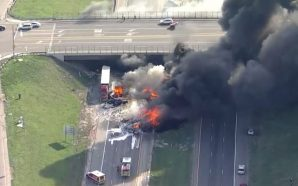 2 killed after semi-truck exploded on highway!