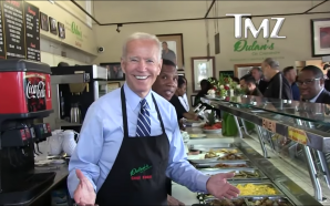 Joe Biden Dishes Up Soul Food in LA !