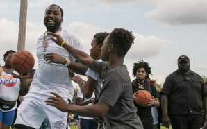 Meek Mill Refurbishes Basketball Court in His Old Philly Neighborhood!