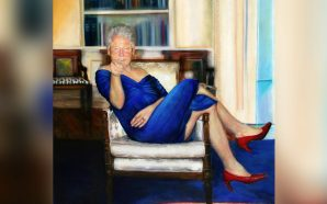 Jeffrey Epstein had a bizarre painting of Bill Clinton in…