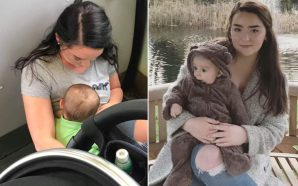Mother forced to breastfeed her child on the train floor…