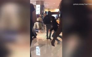 Watch A Fight Breaks Out In Footlocker Last Night And…