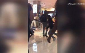 Watch A Fight Breaks Out In Footlocker Last Night And…