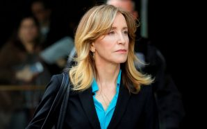 Felicity Huffman reports to prison, begins sentence in college admissions…