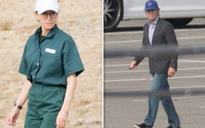 FELICITY HUFFMAN JUMPSUIT STYLIN' During Family Visit