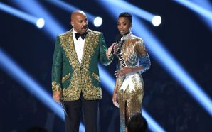 Oops Again: STEVE HARVEY MISS UNIVERSE COSTUME MESS UP Announces…