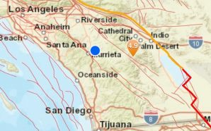 4.9 magnitude earthquake hits in California tonight during pandemic