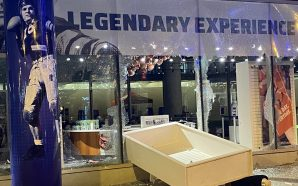 Demonstrators damage College Football Hall of Fame in Atlanta