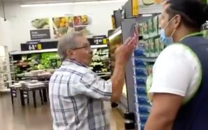 Man Fighting His Way Into Walmart Because He Refuses To…