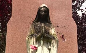 A Statue Of The Virgin Mary Was Set On Fire…