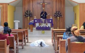 Man Made It To The Church, Got On His Knees…